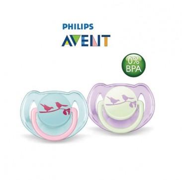 AVENT SCF172/18 Πιπίλες Classic 0-6 μηνών, Ορθοδοντική και χωρίς BPA 2τμχ
