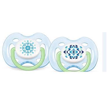 Avent Freeflow Μοντέρνες Πιπίλες 0-6m Γαλάζιο Χρώμα SCF180/25 2τμχ