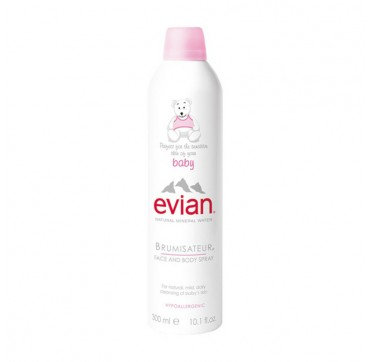 EVIAN – Baby Natural Mineral Water Brumisateur Face and Body Spray – 300ml