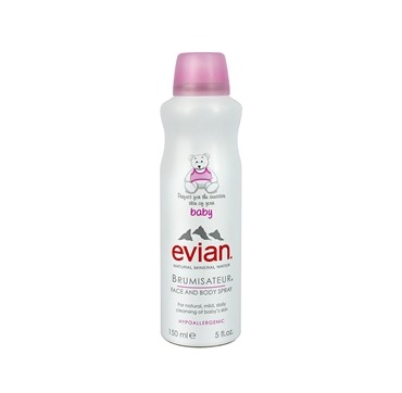 EVIAN Baby Natural Mineral Water Brumisateur Face and Body Spray 150ml