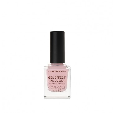 KORRES 05 CANDY PINK GEL EFFECT NAIL COLOUR WITH SWEET ALMOND OIL 11ML