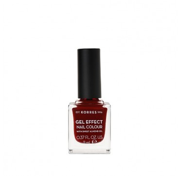 KORRES 59 WINE RED GEL EFFECT NAIL COLOUR WITH SWEET ALMOND OIL 11ML
