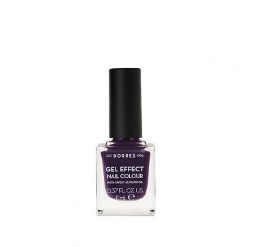 Korres 75 Violet Garden Gel Effect Nail Colour With Sweet Almond Oil 11ml