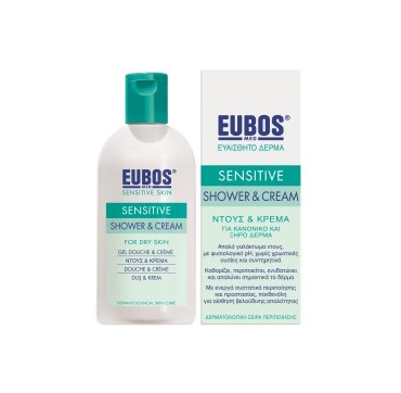 EUBOS SENSITIVE SHOWER & CREAM FOR DRY SKIN ΝΤΟΥΣ & ΚΡΕΜΑ 200ML