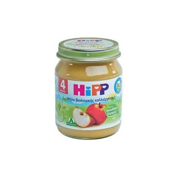 Hipp Βιολογική Φρουτόκρεμα Μήλο Χωρίς Προσθήκη Ζάχαρης Από Τον 4ο Μήνα 125g