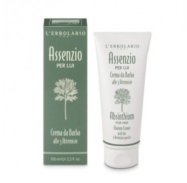 L'erbolario Absinthium For Him Shaving Cream With The 3 Artemisia Species 100ml