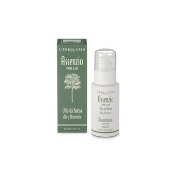L'erbolario Absinthium For Him Beard Oil With The 3 Artemisia Species 30ml