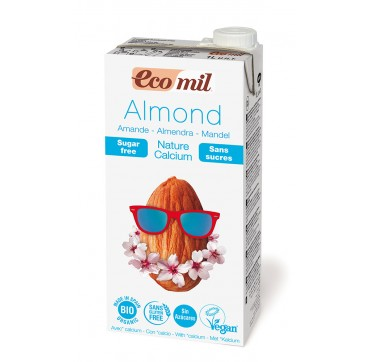 Ecomil Βιο Almond Milk With Calcium Sugar Free Ρόφημα Αμυγδάλου Φυσικό Με Ασβέστιο Χωρίς Ζάχαρη 1lτ