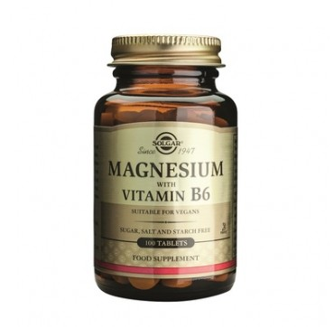 SOLGAR MAGNESIUM WITH VITAMIN B6 100TABS