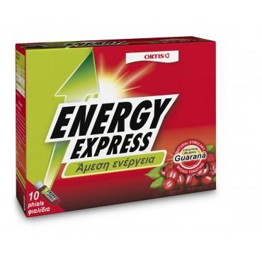 Ortis Energy Express Guarana Συμπλήρωμα Διατροφής Για Τόνωση 10x15ml