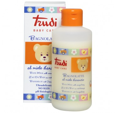 Trudi Baby Care Bagnolatte Bath Milk With Orange Honey Βρεφικό Αφρόλουτρο 250ml