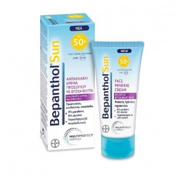 BEPANTHOL SUN FACE MINERAL CREAM SPF50+ 50ml