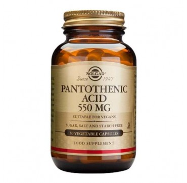SOLGAR PANTOTHENIC ACID 550MG 50V.CAPS