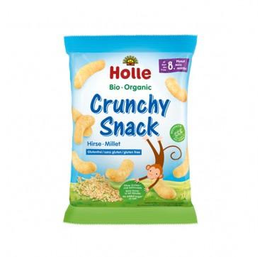 Holle Bio Organic Crunchy Snack Σνακ Δημητριακών Από Βιολογικό Κεχρί Για Μωρά Από 8 Μηνών 25g