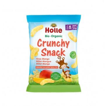 Holle Bio Organic Crunchy Snack Σνακ Δημητριακών Με Κεχρί-Μάνγκο Από 8 Μηνών 25g