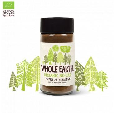 Whole Earth Organic No Caf Coffee Alternative Υποκατάστατο Καφέ Χωρίς Καφεΐνη 100g