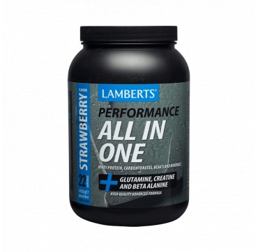 Lamberts Performance All-in-one Strawberry Flavour Φόρμουλα Πρωτεΐνης Με Γεύση Φράουλα 1450g