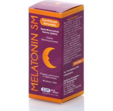 Melatonin Sm Συμπλήρωμα Διατροφής Spray Μελατονίνη Άμεσης Δράσης 1mg/ανά Ψεκασμό 12ml