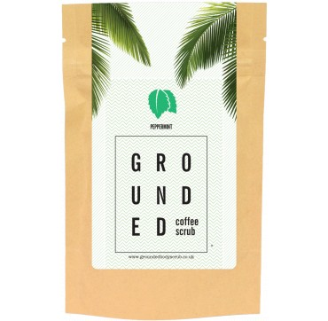 GROUNDED COFFEE SCRUB PEPPERMINT 200g