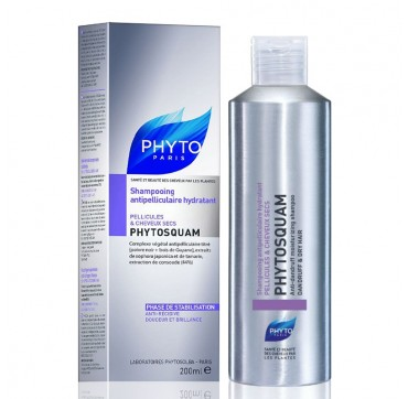 PHYTO PHYTOSQUAM ANTI-DANDRUFF MOISTURIZING SHAMPOO 200ml