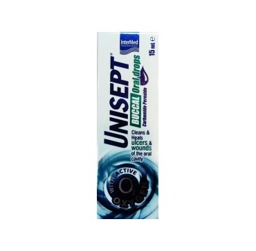 Intermed Unisept Buccal Oral Drops Στοματικές Σταγόνες 15ml