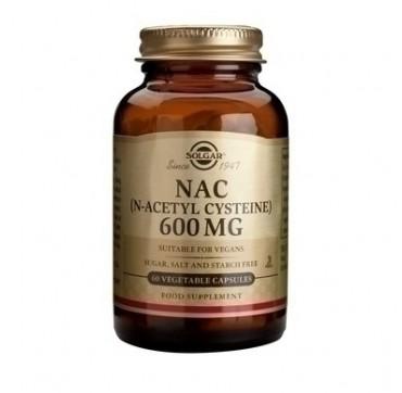 SOLGAR N-ACETYL CYSTEINE (NAC) 600mg 60caps