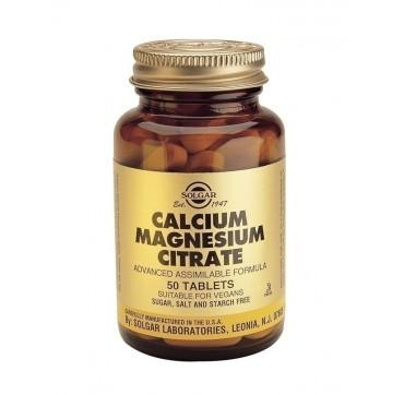 SOLGAR CALCIUM MAGNESIUM CITRATE 50tabs