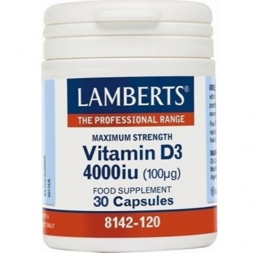 LAMBERTS VITAMIN D3 4000IU 30CAPS