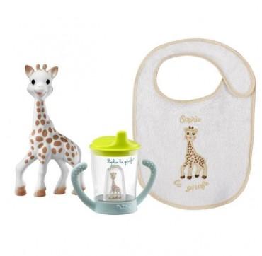 Sophie la Girafe Gift Set ποτηράκι 200ml & υπεραπορροφητική σαλιάρα, 1 τεμάχιο