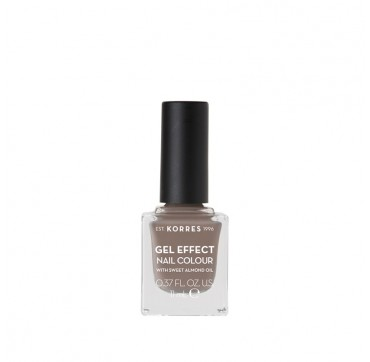 KORRES 95 STONE GREY GEL EFFECT NAIL COLOUR WITH SWEET ALMOND OIL 11ml