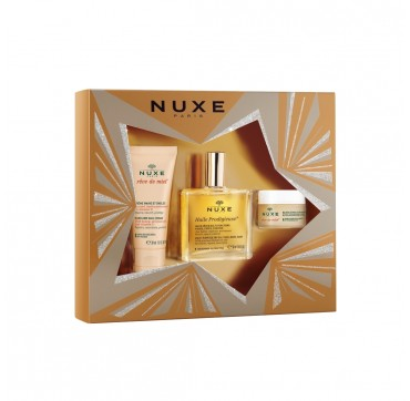 NUXE MY DREAM SET HAND AND NAIL CREAM 30ml & HUILE PRODIGIEUSE 50ml & ULTRA NOURISING LIP BALM 30ml