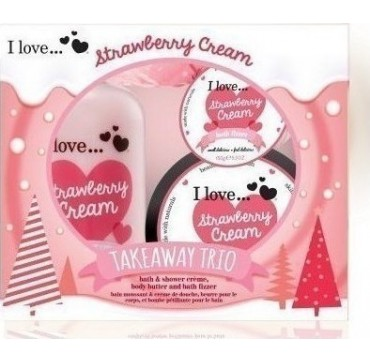 I LOVE COSMETICS I LOVE COSMETICS TAKEAWAY TRIO Strawberry Cream