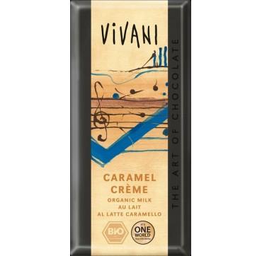 Vivani Σοκολάτα Γάλακτος Με Γέμιση Καραμέλα 100g