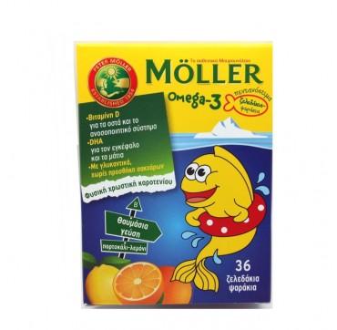Mollers Omega-3 Για Παιδιά Ζελεδάκια Με Γεύση Πορτοκάλι-λεμόνι 36tmx