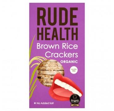 Rude Health Brown Rice Crackers Organic Gluten Free Βιολογικές Ρυζογκοφρέτες Από Καστανό Ρύζι 130g