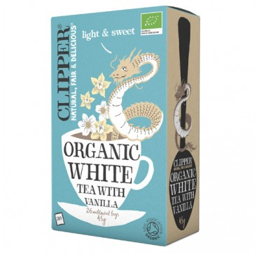 CLIPPER ORGANIC WHITE TEA WITH VANILLA ΒΙΟΛΟΓΙΚΟ ΛΕΥΚΟ ΤΣΑΪ ΜΕ ΒΑΝΙΛΙΑ 45G/26BAGS