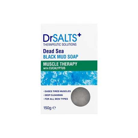 Dr SALTS DEAD SEA BLUCK MUD SOAP MUSCLE THERAPY 150g
