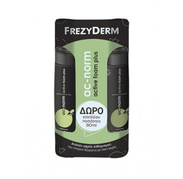 FREZYDERM AC-NORM ACTIVE FOAM PLUS 2x150ml (ΔΩΡΟ 80ml)