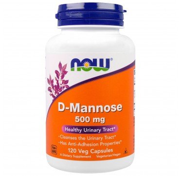 NOW D-MANNOSE 500mg 120 veg. caps.