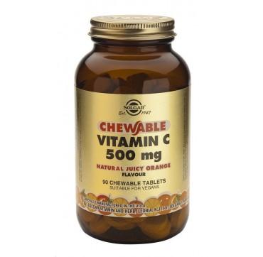 Solgar Vitamin C 500mg Chewable Orange 90tabs
