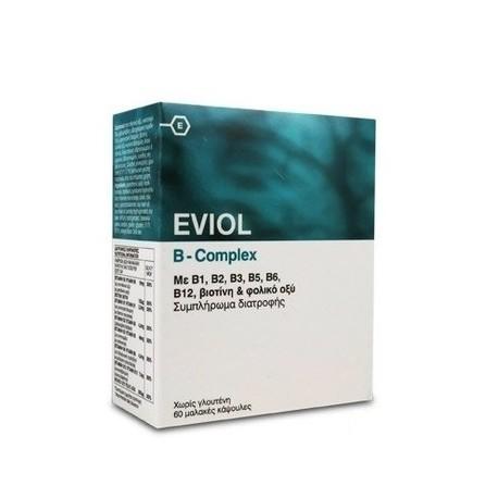 GAP EVIOL B-COMPLEX ME B1,B2,B3,B5,B6,B12, ΒΙΟΤΙΝΗ & ΦΟΛΙΚΟ ΟΞΥ 30SOFTGELS