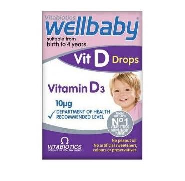 VITABIOTICS WELLBABY VITAMIN D3 10mg