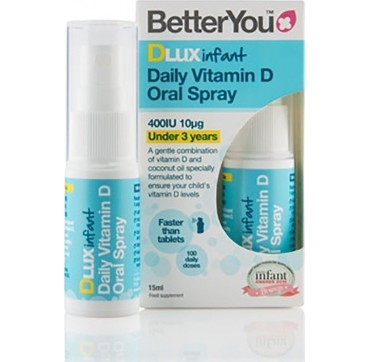 Better You DLUX INFANT 400iu D3 ΥΠΟΓΛΩΣΣΙΟ SPRAY 0μηνών+ - 3year old 15ml (100 Ψεκασμοί)