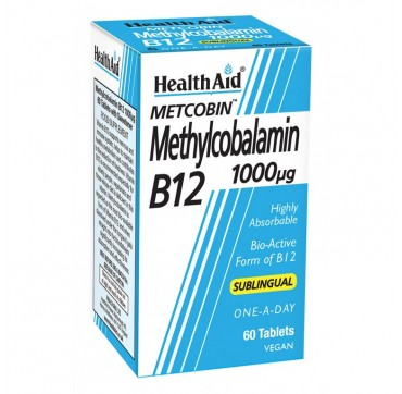 HEALTH AID METHYLCOBALAMIN B12 1000mg 60 ΥΠΟΓΛΩΣΙΑ ΔΙΣΚΙΑ