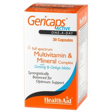 HEALTH AID GERICAPS ACTIVE 30caps