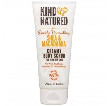 Kind Natured Creamy Body Scrub With Deeply Nourishing Shea & Macadamia 200ml