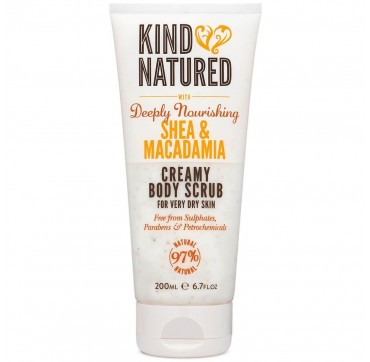 KIND NATURED CREAMY BODY SCRUB WITH DEEPLY NOURISHING SHEA & MACADAMIA 200ml