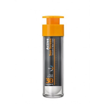 Frezyderm Active Sun Screen Face Cream Spf30 Ειδικη Αντηλιακή Κρέμα Με Πλουσια Κρεμώδη Μη-λιπαρή Υφή 50ml