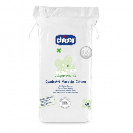 CHICCO ΜΑΝΤΗΛΑΚΙΑ ΑΠΟ ΜΑΛΑΚΟ ΒΑΜΒΑΚΙ 60 ΤΕΜ.