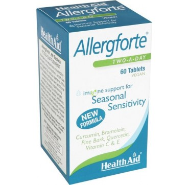 HEALTH AID ALLERGFORTE TWO A DAY 60 v.tabs